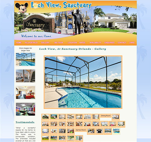 Villa Web Design Page Sample 3